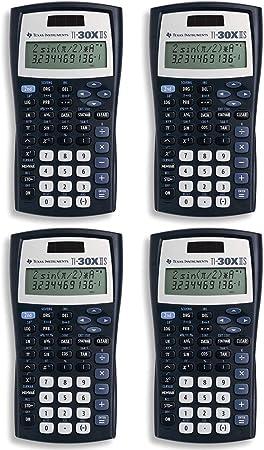 Texas Instruments TI-30X IIS 2-Line Scientific Calculator, Black with Blue Accents (4, Black)
