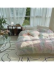 Ceruleanhome 100% Velvet Flannel Duvet Cover, Solid Color, No Inside Filler