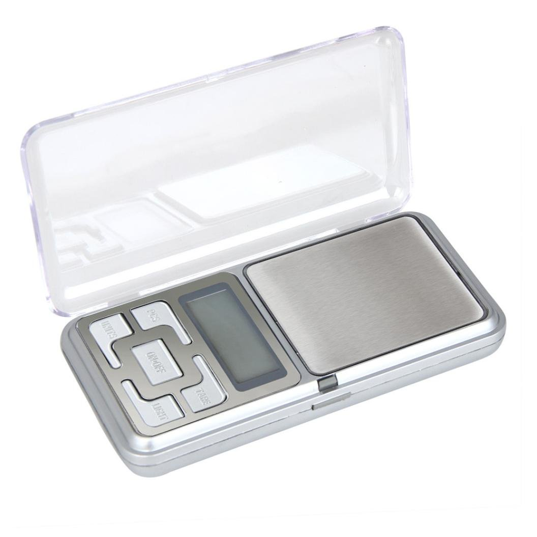 Iuhan 500g x 0.1g Digital Scale Jewelry Gold Herb Balance Weight Gram LCD Electronic Scale (Silver)