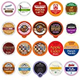 Coffee, Tea, Cider, and Hot Chocolate Single Serve Cups For Keurig K cup Brewers, Variety Pack Sampler (Mix, 20)