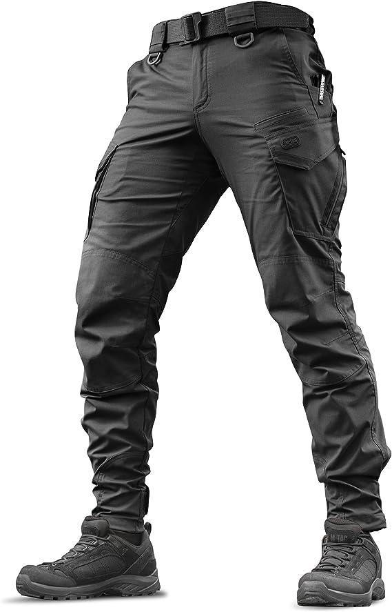 Amazon Com Aggressor Flex Pantalones Tacticos Para Hombre Algodon Negro Con Bolsillos Cargo Clothing