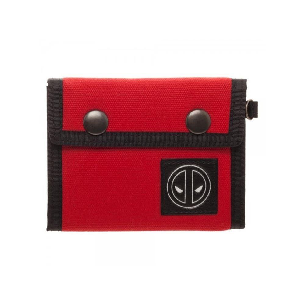 Marvel Deadpool Canvas Tri-Fold Wallet w/Gift Box by Superheroes Brand