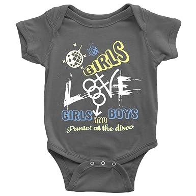 508cde6ed Amazon.com: Panic At The Disco Baby Bodysuit, Girls And Boys Cute Baby  Bodysuit: Clothing
