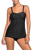 HOTAPEI Women Summer Swimwear Two Pieces Tankini Set Bikini Bottoms