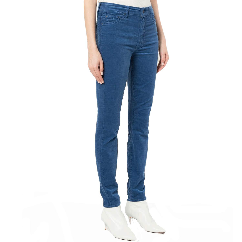 bluee, True bluee Mother Women's High Waisted Looker Velvet Jeans True bluee