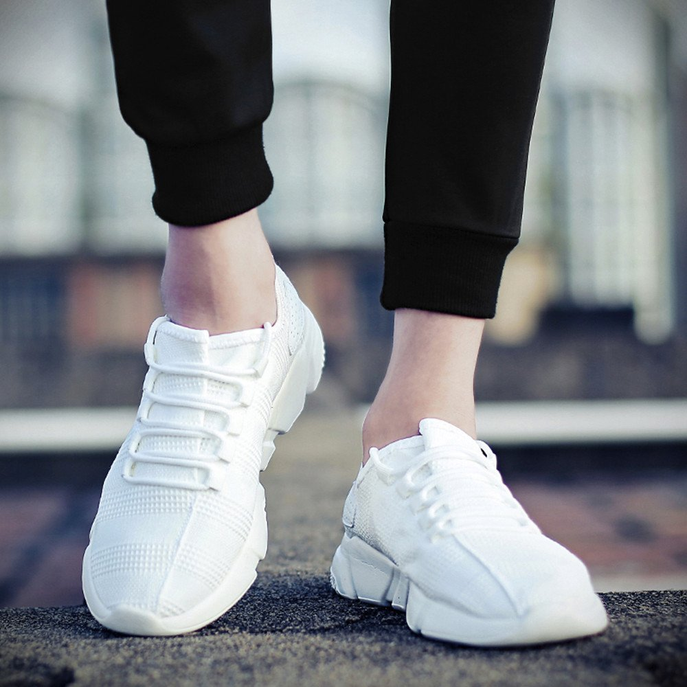 feiXIANG Herren Sportschuhe Schn/ürschuhe Atmungsaktives Sneakers Leichte Schuhe Bequem Turnschuhe Fitness Gym Mesh Shoes