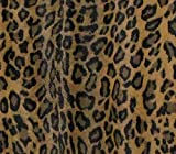 leopard upholstery fabric - Vinyl Upholstery LEOPARD TOBACCO Fabric Fake Leather / 54