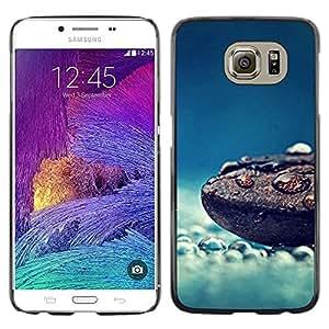 Be Good Phone Accessory // Dura Cáscara cubierta Protectora Caso Carcasa Funda de Protección para Samsung Galaxy S6 SM-G920 // rain nature coffee bean blue clean mist