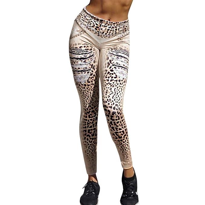 cinnamou Pantalon Yoga Mujer, Fitness Pantalones Jogging ...
