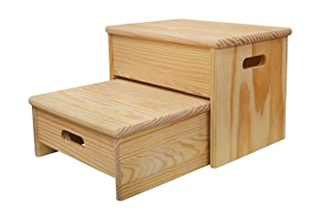 Aranaz scala sgabello ara legno: amazon.it: casa e cucina