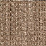 Andersen 210 Waterhog Classic Tile Polypropylene Fiber Entrance Indoor/Outdoor Floor Tile, Square Pattern, SBR Rubber Backing, 18'' Length x 18'' Width, 1/4'' Thick, Medium Brown (Case of 12)