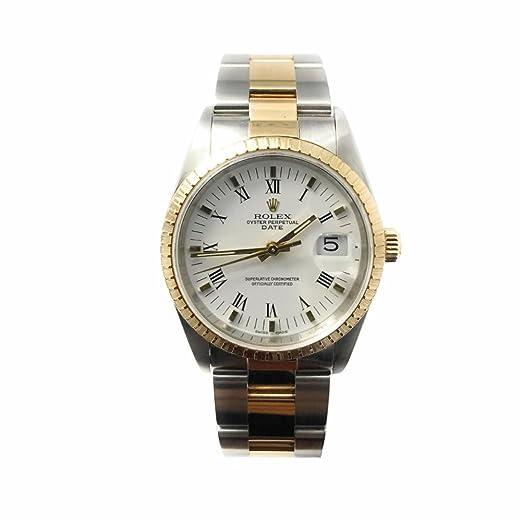 Rolex Fecha swiss-automatic Mens Reloj 15223 (Certificado) de segunda mano: Rolex: Amazon.es: Relojes