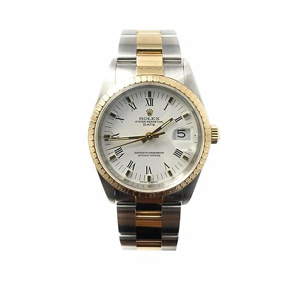 Rolex Fecha swiss-automatic Mens Reloj 15223 (Certificado) de segunda mano