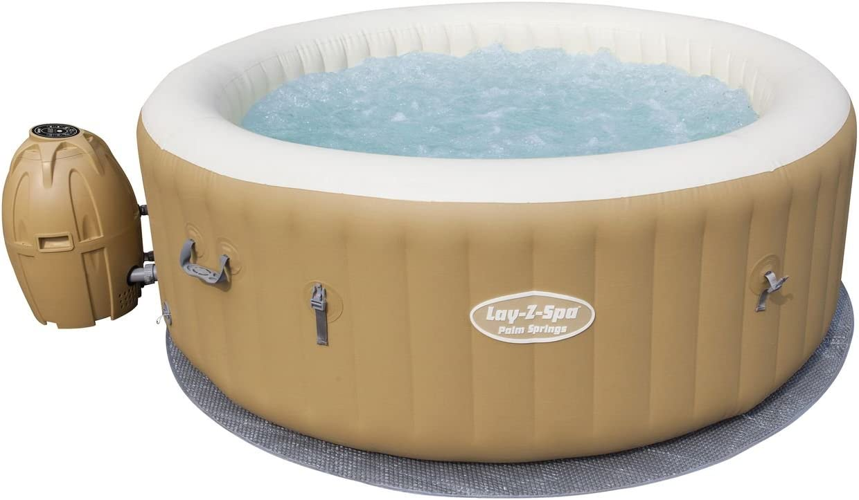 Bestway 54129 - Spa Hinchable Lay- Z-Spa Palm Springs Para 4-6 personas Redondo: Amazon.es: Jardín