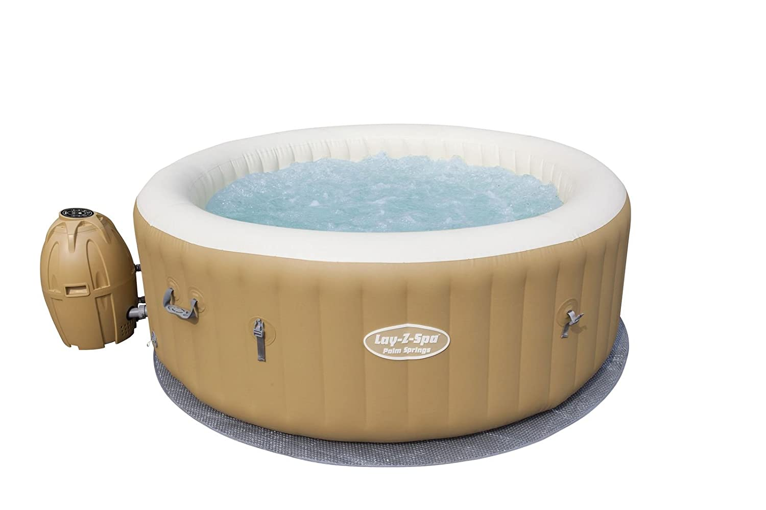 Bestway Spa Gonflable Rond 6 Personnes 120 Airjets Diam Tre 196