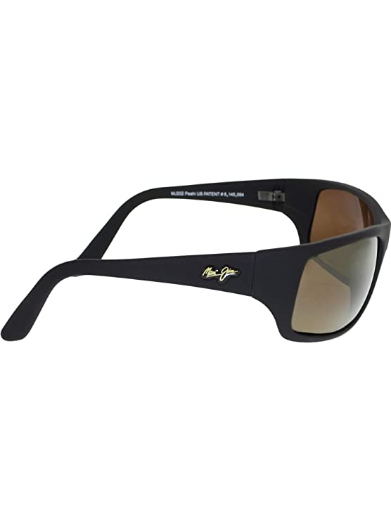 d509f6944f Amazon.com  Maui Jim Peahi Sunglasses - Polarized Matte Black Rubber Hcl  Bronze