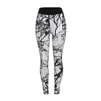 Mujeres Tronco Impreso Leggings Casual Deporte Yoga Lápiz ...