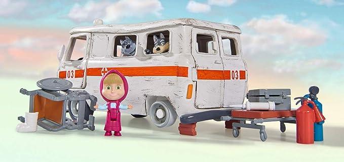 Playset Ambulanza Masha con Personaggi e Accessori Simba 109309863