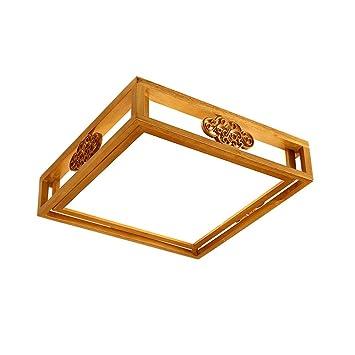 Lámpara de techo Yuan JIAN XDD Madera Maciza Nordic Creative ...
