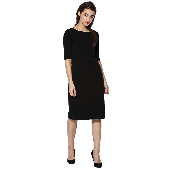 Vastrgrah Black Jersey Knit Sheath Dress Amazon Clothing
