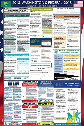 2019 Washington State and Federal Labor Law Poster - OSHA Compliant