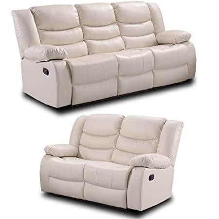 Strange Simply Stylish Sofas Belfast Ivory Cream Leather Reclining Sofa Range All Combinations Available 3 2 Seater Sofa Set Bralicious Painted Fabric Chair Ideas Braliciousco