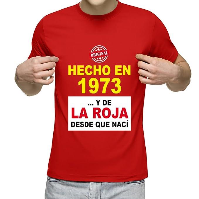 Camiseta Personalizada con Fecha de nacimiento y la Frase Soy de la Roja Desde Que