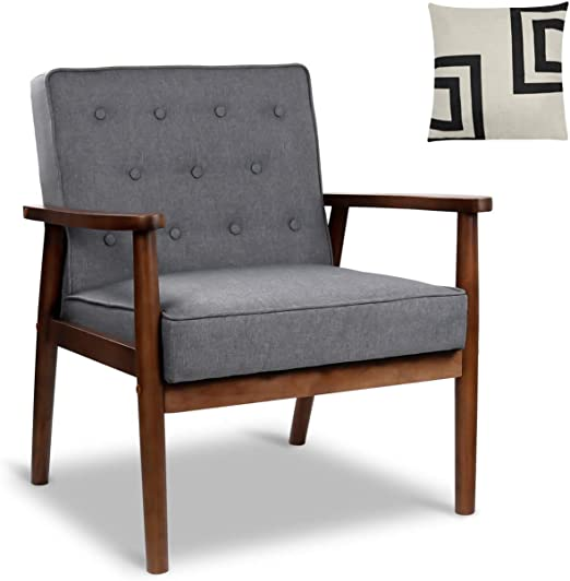 Accent Chairs.Amazon Com Mid Century Retro Modern Accent Chair Wooden Arm