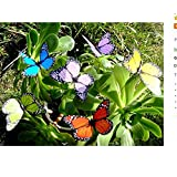 Xiton Colourful Garden Butterflies on Sticks X10
