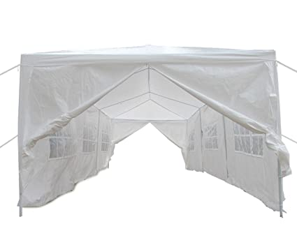 Qisan Canopy Tent Carport 10 X 30-feet Domain Carport with sidewalls white(  sc 1 st  Amazon.com & Amazon.com: Qisan Canopy Tent Carport 10 X 30-feet Domain Carport ...