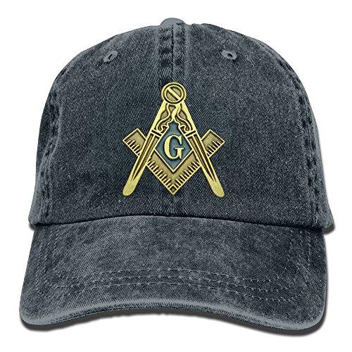 Headgear Denim Cap (Men's Girl's Cricket Cap,Masonic Symbol Denim Hat For Male Women Unisex)