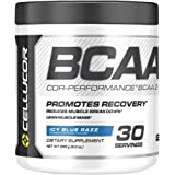 BCAA, Icy Blue Razz, 30 Servings: Cellucor COR Performance BCAA Powder, Branched Chain Amino Acids with Beta Alanine, Icy Blue Razz, 30 Servings