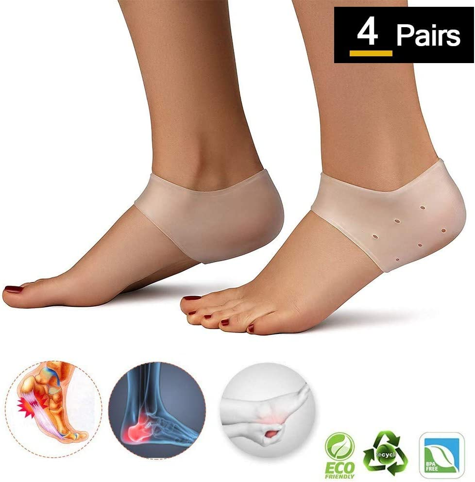 Gel Relieve Foot Pain Support Sport  Insoles Heel Cushion Protectors Shoe Pad