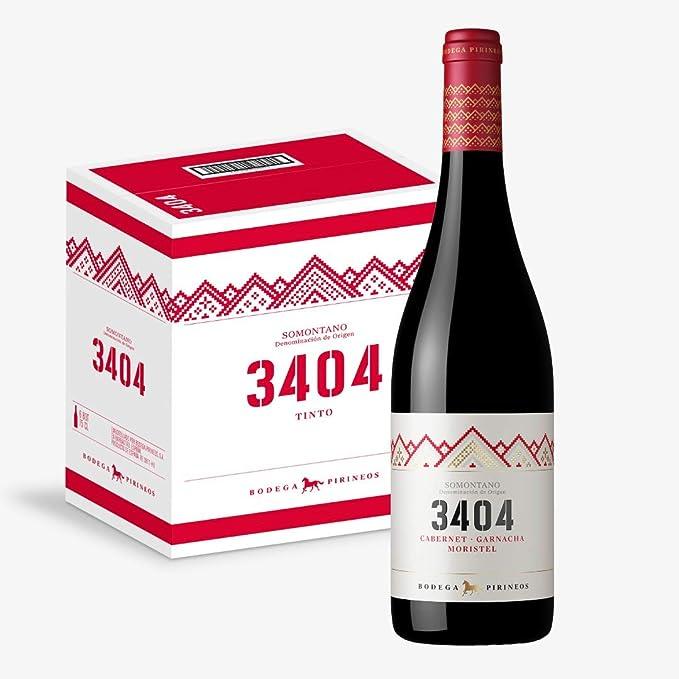 3404 Vino Tinto - Caja de 6 bot. de 75 cl.: Amazon.es: Alimentación y bebidas