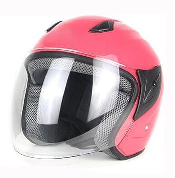 ZCXCC Casco De La Motocicleta Vehículo Eléctrico Vespa Cuatro Estaciones Medio Casco Hombres Y Mujeres Antiniebla