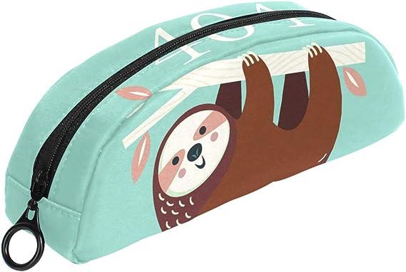 Funny 404 Error Cute Sloth estuche con cremallera pequeña bolsa de maquillaje papelería para niños niño adolescente niña escuela: Amazon.es: Oficina y papelería