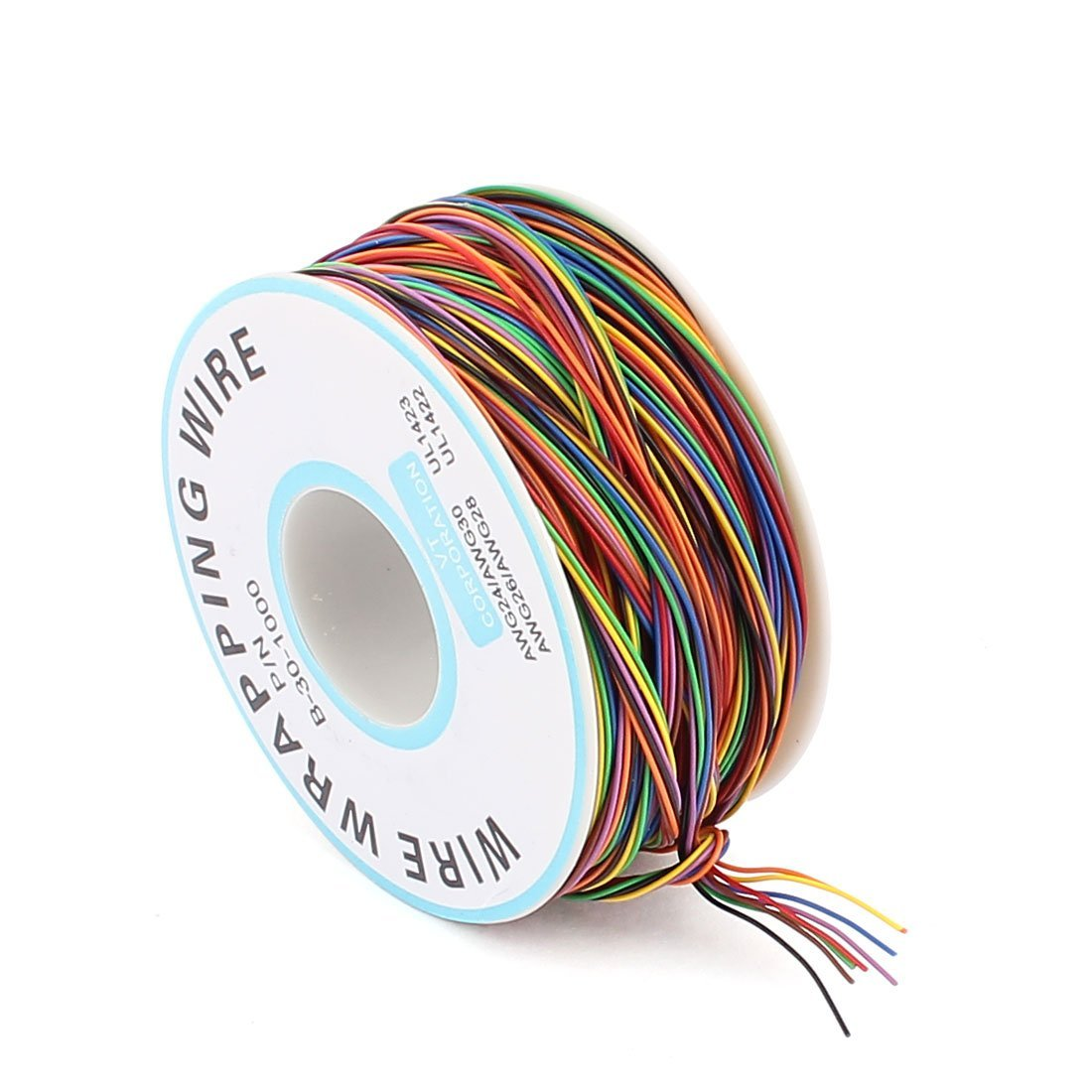 eDealMax Color clasificado 0, 25 mm Diámetro del alambre de cobre 30AWG Envoltura Wrap, 1000: Amazon.com: Industrial & Scientific