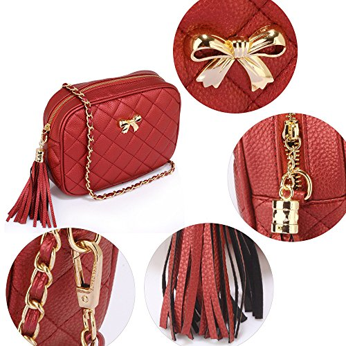 New Handbag Womens Messenger Body Shoulder Red Cross Ladies 1 Crossbody Bags Over Design zw1xpOqZ