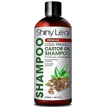 Champú con aceite de ricino - champú para el crecimiento del cabello, champú con biotina, cabello suave y liso, champú densificador del cabello, ...