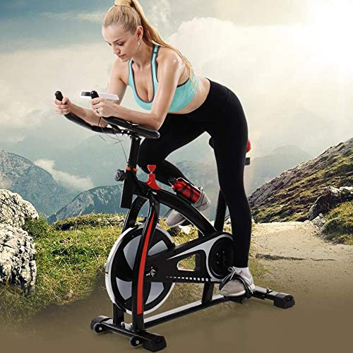 Shan-S 2019 New Spinning Bicycle Stationary Bike, Belt Drive Indoor Ultra-Quiet Exercise Fitness Bicycle Equipment