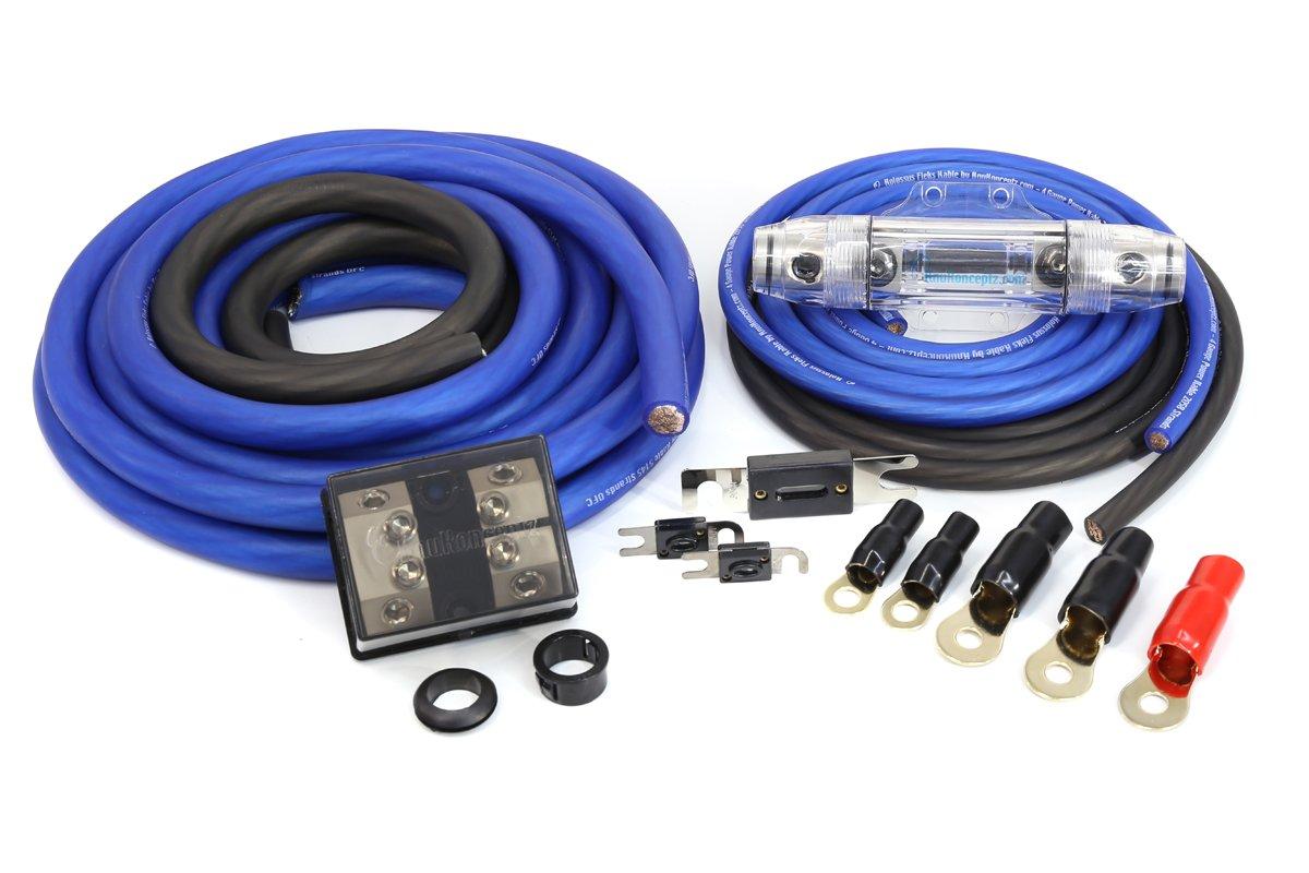 Knukonceptz Kolossus Flex 0 Gauge Ofc Dual Power Amp Ga Awg Amplifier Wiring Wire Kit Complete Installation Car Electronics