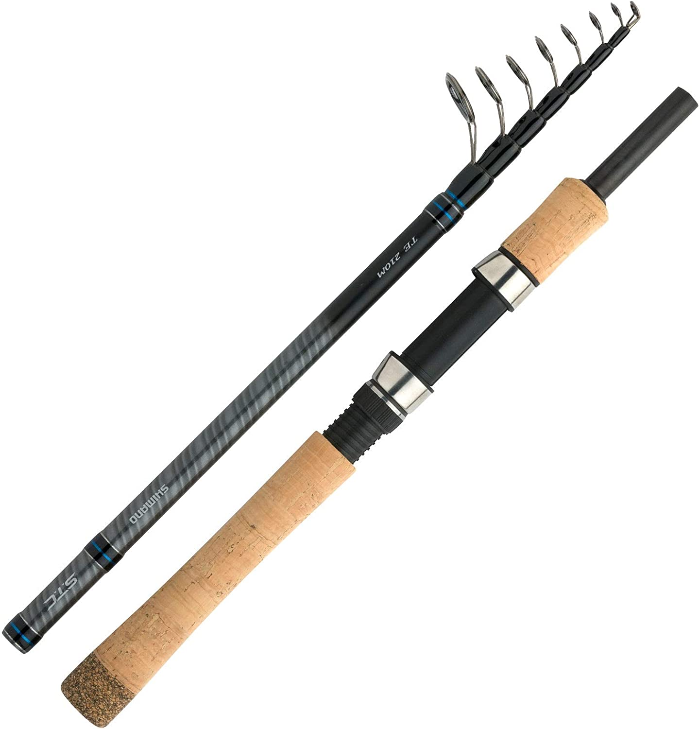 SHIMANO STC Mini Tele Spinning, Mini Teleskopic Travel Fishing Rod ...