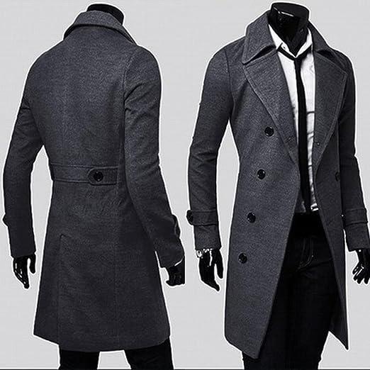 Jacket Giacca Doppio Fit Trench Elegante Lungo Outwear Coat Uomo Cappotto  Parka Inverno Hiroo Slim Giubbotti Breasted FqgzfAvwF 331c478420f