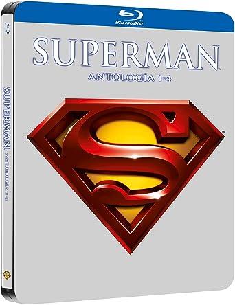 Pack Superman I-Iv Black Metal Edition Blu-Ray Blu-ray: Amazon.es: Christopher Reeve, Marlon Brando, Gene Hackman, Ned Beatty, Jackie Cooper, Glenn Ford, Richard Donner, Richard Leste, Sidney J. Furie, Christopher Reeve, Marlon Brando:
