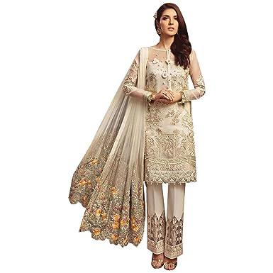 7f72b144a9 Image Unavailable. Image not available for. Color: Floral Dupatta Pakistani  Salwar Kameez Muslim Suit Indian ...