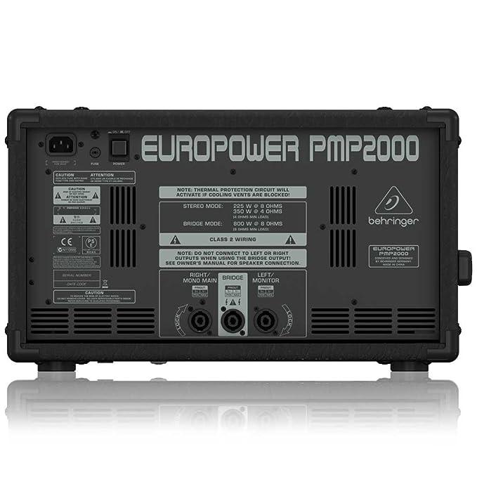 amazon com behringer pmp2000 behringer europower 800 watt 10 rh amazon com behringer europower pmp2000 service manual Behringer PMP2000 Specs