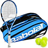 "Babolat Pure Drive Lite Tennis Racquet (4 1/4″ Grip), Strung, and Bundledwith a Blue Pure Racquet Holder x12 and a Can of Tennis Balls (Perfect ""Set"" for Beginner to Intermediate Players) For Sale"