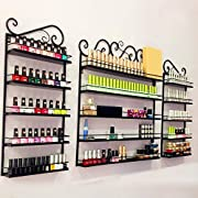 "World Pride 5 Tier Black Metal Nail Polish Storage Organizer Display Rack 49.6""L x 26""H"