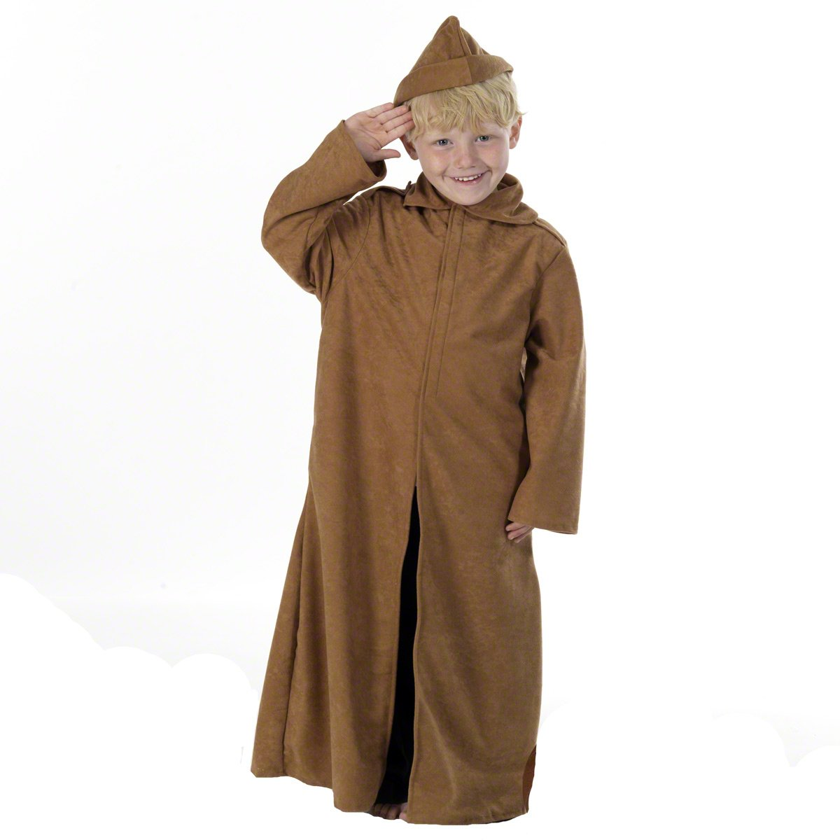DELUXE TRENCH COAT DRESSING UP COSTUME ALL Dimensione KIDS FANCY DRESS WORLD WAR BOOK
