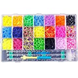 kumihimo stand - JBENG 4400 Colorful Rubber Band Bracelet Loom Refill Kit Fun DIY for Kids w/Storage Case (multicolored)